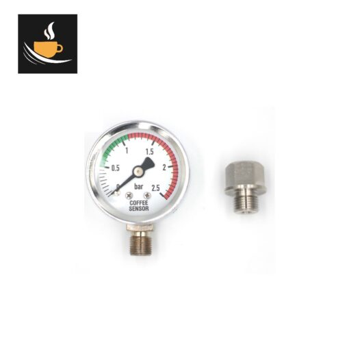 La Pavoni Lever Boiler Pressure Gauge and stainless adapter kit