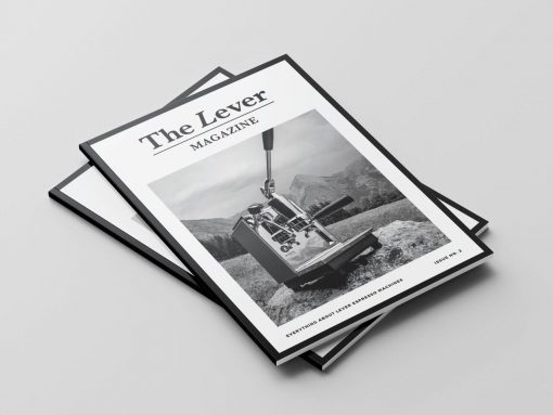 the lever magazine second issue sold by coffee sensor