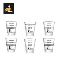 Motta set of 6 graduated espresso glasses code 1412