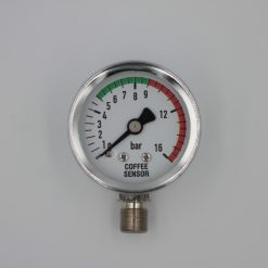 Coffee Sensor Piston Shaft Pressure Gauge 0-16 Bar (chrome)