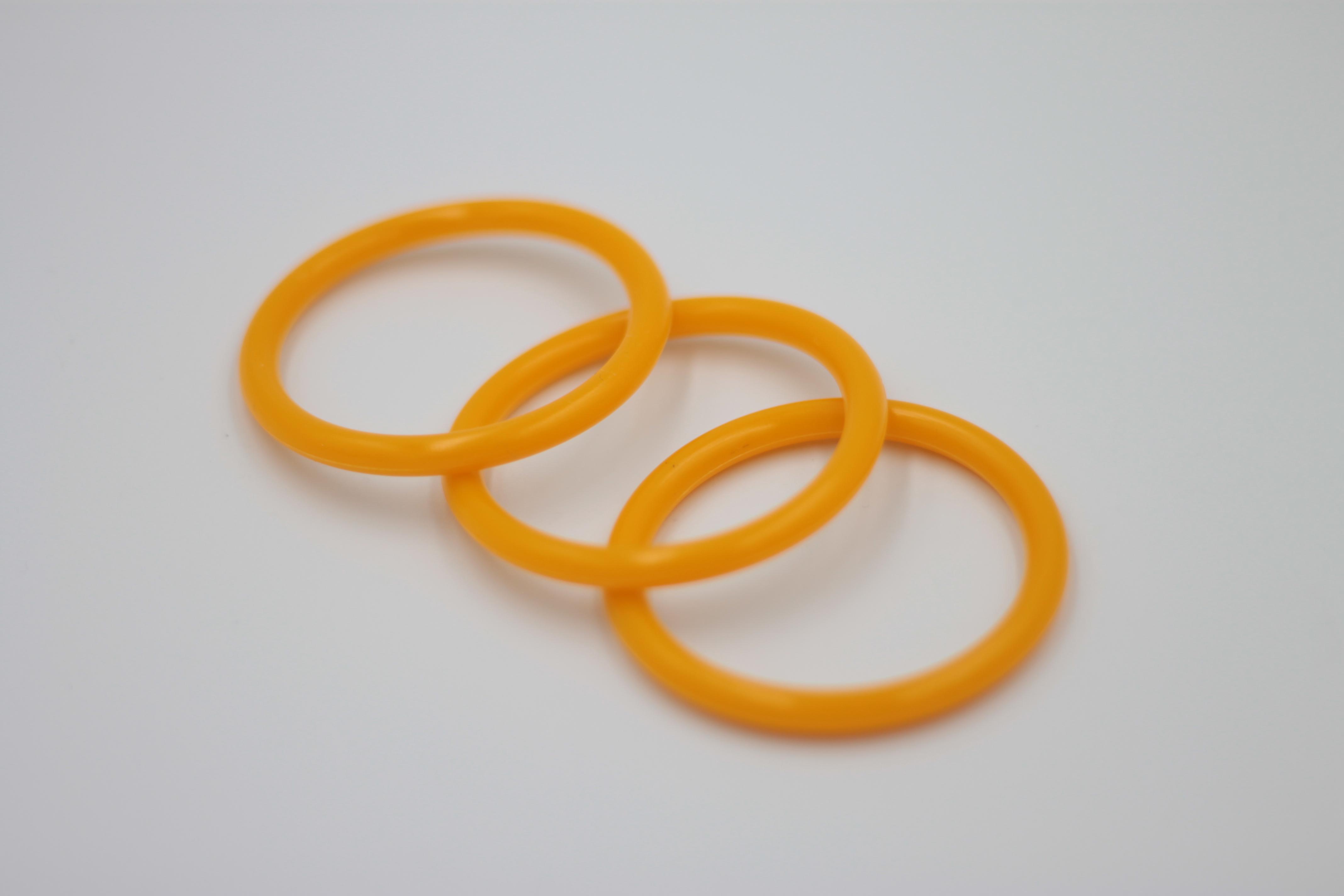 La Pavoni Lever Special orange silicone Filterholder Gasket for pre mills