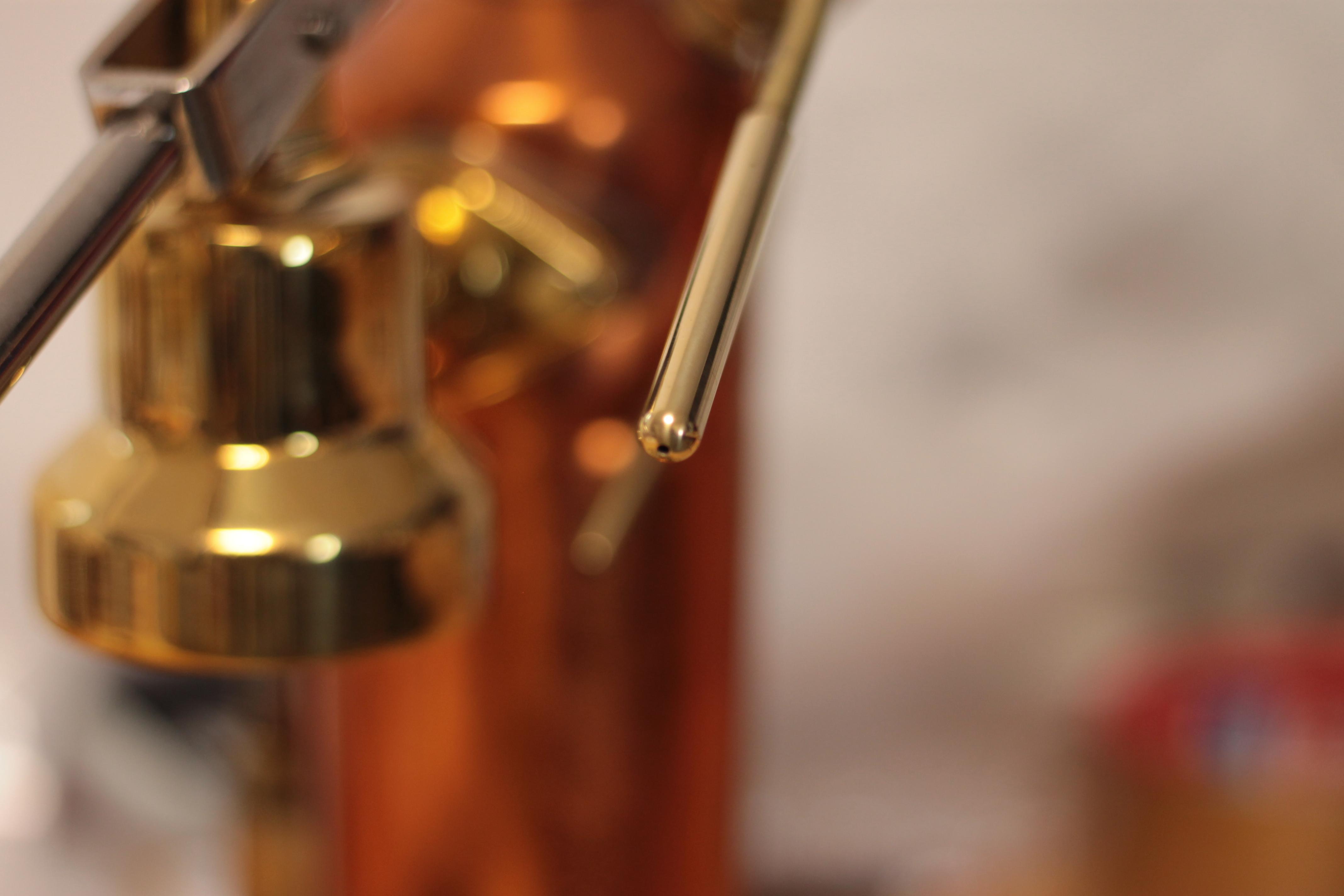 La Pavoni Lever long brass single hole steam tip extender 2